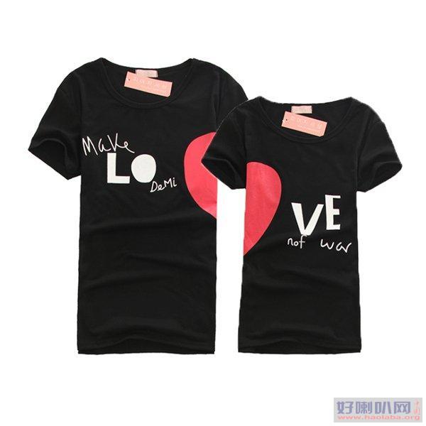 厂家直销夏季男女T恤韩版时尚裙子情侣装T恤便宜批发