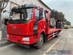 J6拖车介绍--解放J6L6米8挖机平板拖车(可运输15吨)