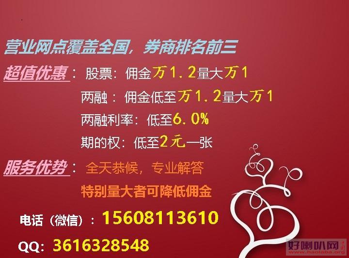 两融超低!深圳超低融资融券佣金万1.2,利率低至6