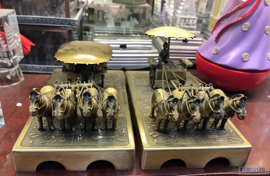 宝鸡铜车马工艺品销售,西安仿古铜车马礼品摆件