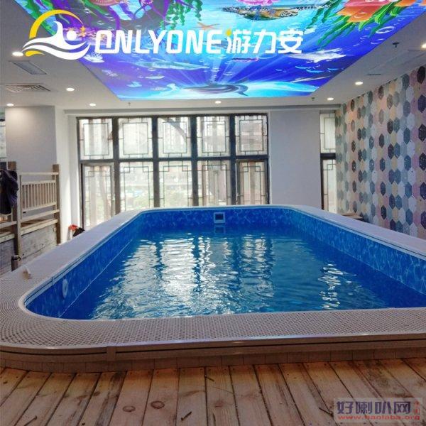 贵州智能钢结构组装池-无边际室内恒温家用游泳池
