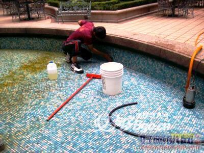 越秀区洪升游泳池清洗 泳池消毒 安全放心