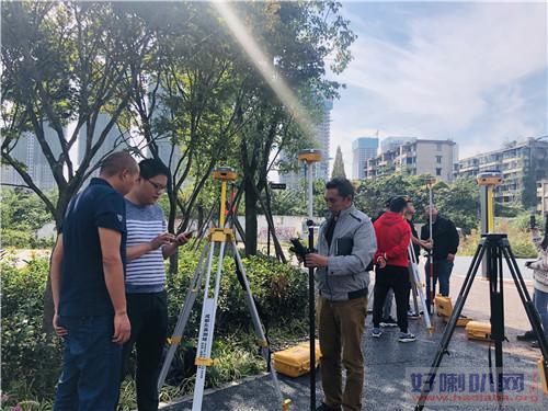 阿里建筑物测量培训班全站仪的使用学习