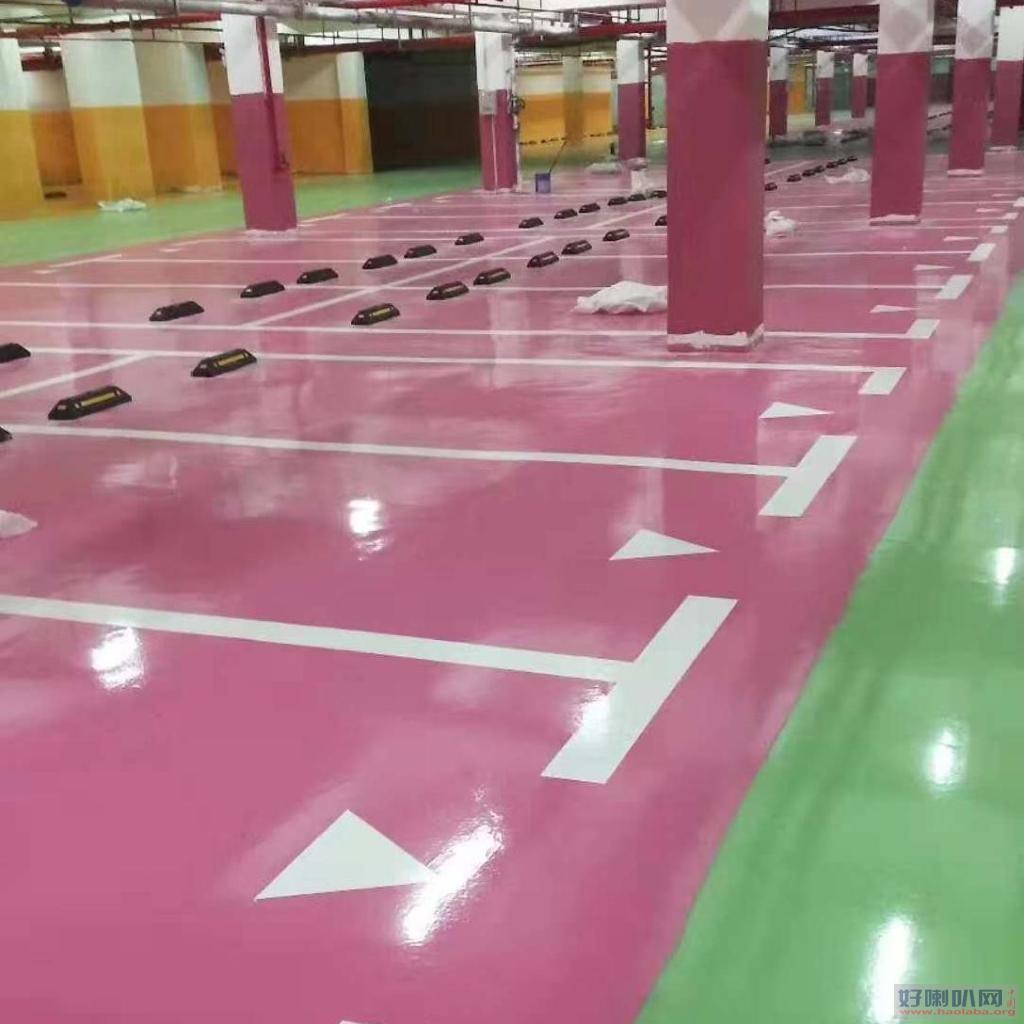 青岛莱西地下停车场耐磨地坪环氧砂浆地坪施工案例