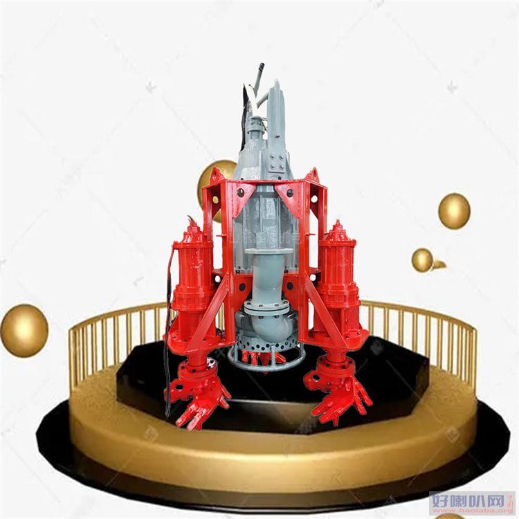 绞吸式河底清淤泵 切割搅拌同时进行的搅吸泵 耐磨铰吸泵