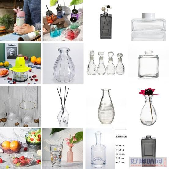 玻璃碗 香薰瓶等玻璃制品现货批发与加工定制